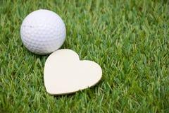 Giorno felice del ` s del biglietto di S. Valentino al giocatore di golf Fotografia Stock Libera da Diritti