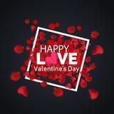 Giorno felice del ` s del biglietto di S. Valentino di amore la cosa migliore Fotografia Stock Libera da Diritti