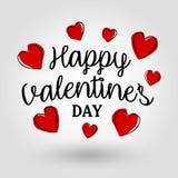 Giorno felice del ` s del biglietto di S. Valentino - carta fotografia stock libera da diritti