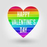 Giorno felice del ` s del biglietto di S. Valentino - carta fotografie stock libere da diritti
