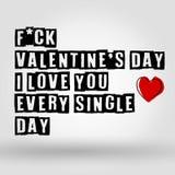 Giorno felice del ` s del biglietto di S. Valentino - carta fotografia stock