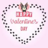 Giorno felice del ` s del biglietto di S. Valentino - carta immagine stock libera da diritti