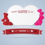 Giorno felice del ` s del biglietto di S. Valentino con un in forma di cuore Immagine Stock Libera da Diritti