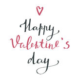 Giorno felice del ` s del biglietto di S. Valentino - manifesto di tipografia Fotografie Stock