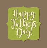 Giorno felice del ` s del padre Retro progettazione disegnata di calligrafia Fotografia Stock