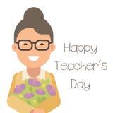 Giorno felice del ` s dell'insegnante Immagine Stock Libera da Diritti