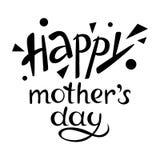 Giorno felice del `s della madre Vettore dell'iscrizione frase fotografie stock libere da diritti