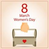 Giorno felice del ` s delle donne royalty illustrazione gratis