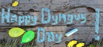 Giorno felice di Dyngus! fotografia stock libera da diritti