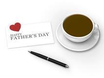 Giorno felice di Fatherâs Fotografia Stock