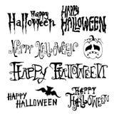 Giorno felice di Halloween disegnato a mano Fotografia Stock