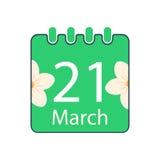 Giorno felice di Nowruz con il calendario Fotografia Stock Libera da Diritti