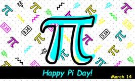Giorno felice di pi - vettore illustrazione vettoriale