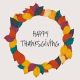 Giorno felice di ringraziamento Modello della carta di giorno di ringraziamento Fotografia Stock Libera da Diritti