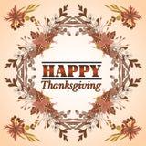 Giorno felice di ringraziamento di stile di progettazione di carta Fotografia Stock
