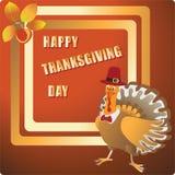 Giorno felice di ringraziamento Tacchino festivo elegante illustrazione vettoriale