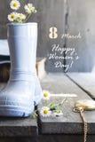 Giorno felice internazionale del ` s delle donne - 8 marzo festa Immagini Stock Libere da Diritti