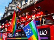 Giorno gaio 2010 di parata di orgoglio a Londra centrale Fotografie Stock Libere da Diritti