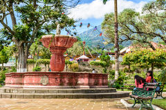 Giorno giusto, Guatemala di St John & della fontana Fotografie Stock Libere da Diritti