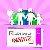 Giorno globale dei genitori Fotografie Stock Libere da Diritti