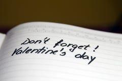 Giorno il 14 febbraio dei biglietti di S. Valentino Immagini Stock