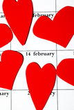Giorno il 14 febbraio del biglietto di S. Valentino Fotografia Stock