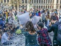 Giorno internazionale Bucarest 2017 di lotta di cuscino Fotografia Stock