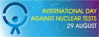 Giorno internazionale contro i test nucleari illustrazione vettoriale