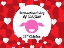 Giorno internazionale del fondo del bambino della ragazza Fotografia Stock Libera da Diritti