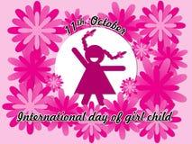 Giorno internazionale del fondo del bambino della ragazza Immagine Stock Libera da Diritti