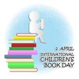 Giorno internazionale del libro del ` s dei bambini illustrazione di stock