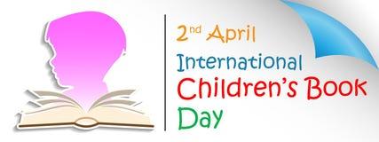 Giorno internazionale del libro del ` s dei bambini illustrazione vettoriale