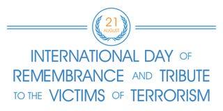 Giorno internazionale del ricordo e del tributo alle vittime del terrorismo royalty illustrazione gratis