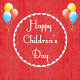 Giorno internazionale del ` s dei bambini fotografia stock libera da diritti