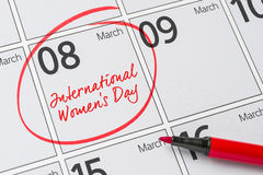 Giorno internazionale del ` s delle donne Fotografie Stock Libere da Diritti