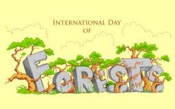 Giorno internazionale della foresta Immagini Stock Libere da Diritti