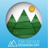 Giorno internazionale della montagna illustrazione di stock