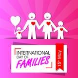Giorno internazionale delle famiglie illustrazione di stock