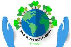 Giorno internazionale delle foreste illustrazione vettoriale