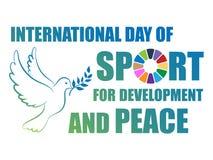 giorno internazionale dello sport per sviluppo e pace illustrazione di stock