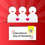 Giorno internazionale di amicizia illustrazione di stock
