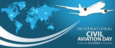 Giorno internazionale di aviazione civile illustrazione di stock