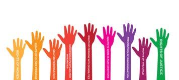 Giorno internazionale di diritto dell'uomo Immagini Stock Libere da Diritti