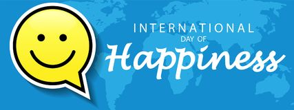Giorno internazionale di felicità illustrazione vettoriale
