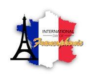 Giorno internazionale di Francophonie illustrazione vettoriale