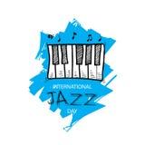 Giorno internazionale di jazz Fotografia Stock Libera da Diritti