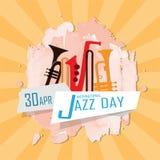 Giorno internazionale di jazz royalty illustrazione gratis