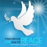 Giorno internazionale di pace illustrazione di stock