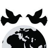 Giorno internazionale di pace Icona e vettore della colomba Immagine Stock Libera da Diritti