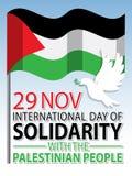 Giorno internazionale di solidarietà con i precedenti palestinesi della gente illustrazione di stock